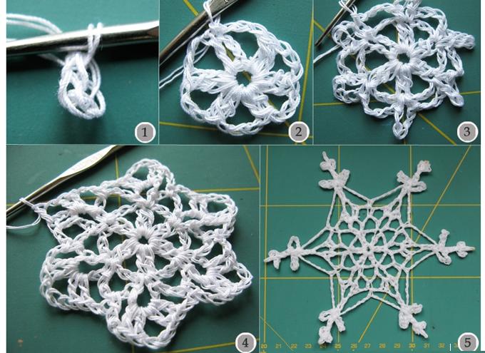 Copo de Nieve tridimensional crochet patron - Patrones Crochet ...