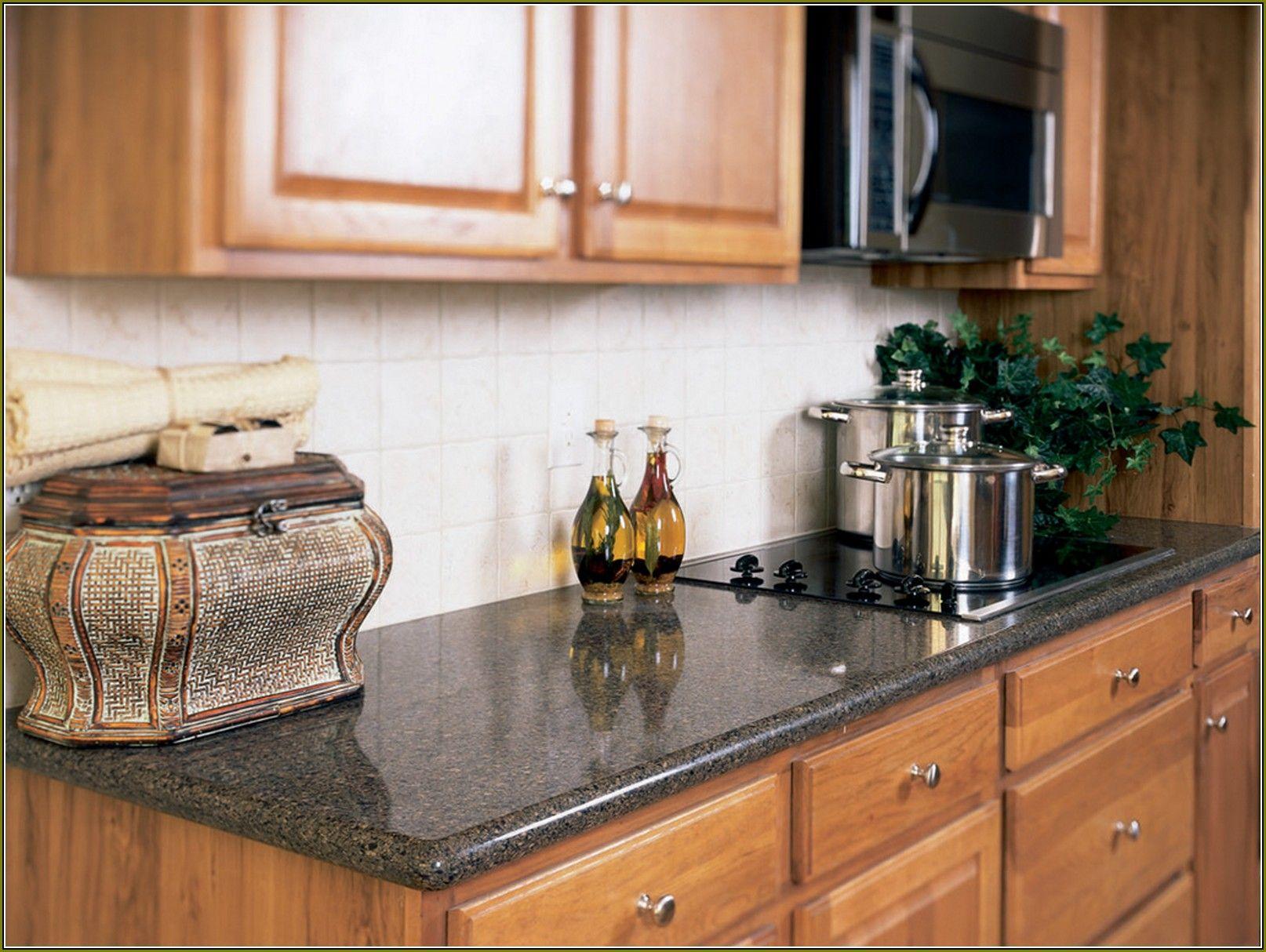 Honey Oak Backsplash Kitchen and