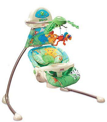 Fisher Price Rainforest Open Top Cradle Swing Fisher