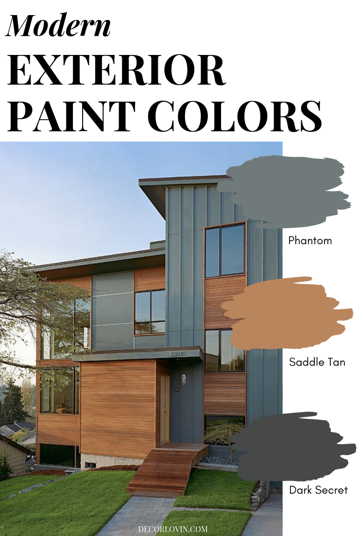 Modern Exterior Paint Colors In 2020 House Paint Exterior Exterior Paint Colors For House Modern Exterior