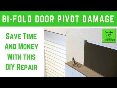 62 Bifold Door Pivot Repair Youtube In 2020 Home Repair Home Repairs Doors