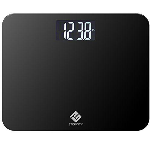 Etekcity Digital Body Weight Bathroom Scale With Extra Large Display 440 Pounds Elegant Black