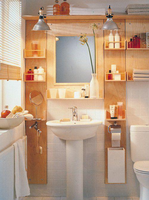 Recuperare spazio in bagno legno pinterest bagno e legno - Fai da te mobile bagno ...