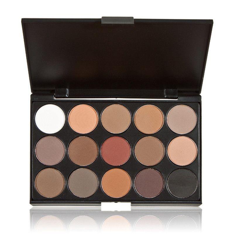 Pigmento de Sombra de Ojos 3 Diferentes Nuevo Color Maquillaje Mate Paleta de Sombra de ojos Moda 15 Colores de Tierra de Maquillaje Cosmético para Las Mujeres
