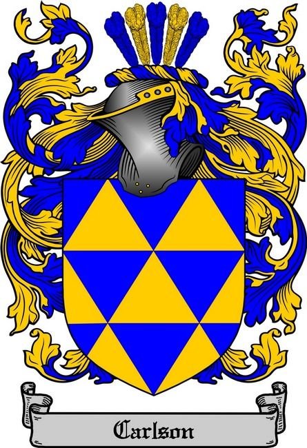 CARLSON FAMILY CREST - COAT OF ARMS My Swedish side of the family on my Mothers side. | German ...