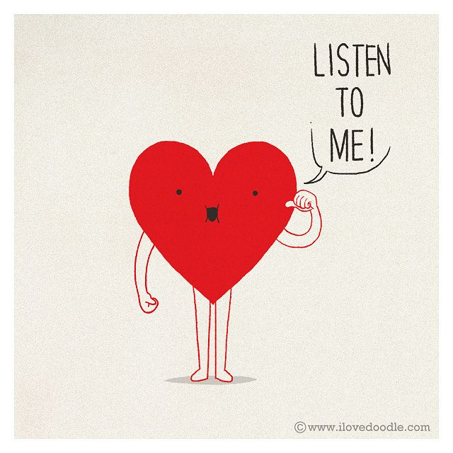 Listen to your heart by ILoveDoodle, via Flickr