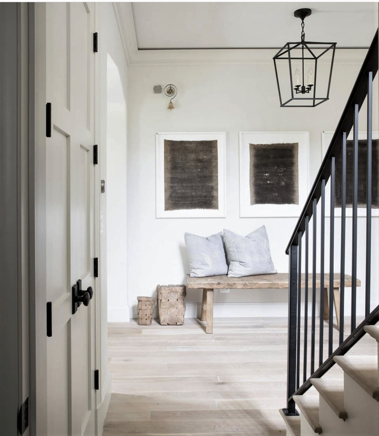 Staircase Ideas For Your Hallway That Will Really Make An: Warm And Inviting Hall Decor By Kate Marker Interiors. The