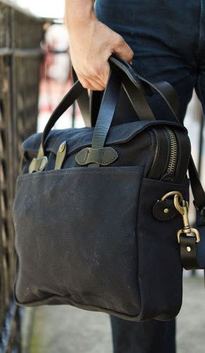 Filson Original Briefcase black available at www.beaubags.nl
