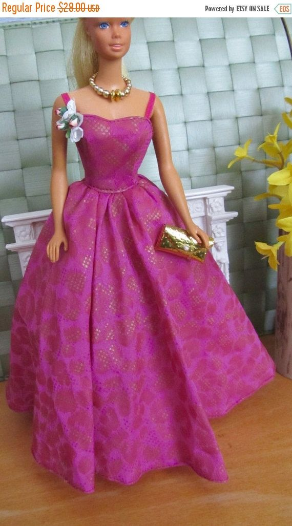 Vintage Barbie Gown Attached Petticoat And Tag By Mattel Comes With ...