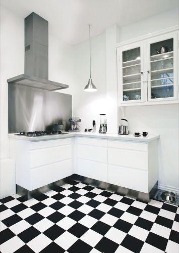 Modern Kitchen In Black And Whitewhite Lower Cabinets Stainless Classy Black And White Kitchen Designs Design Inspiration