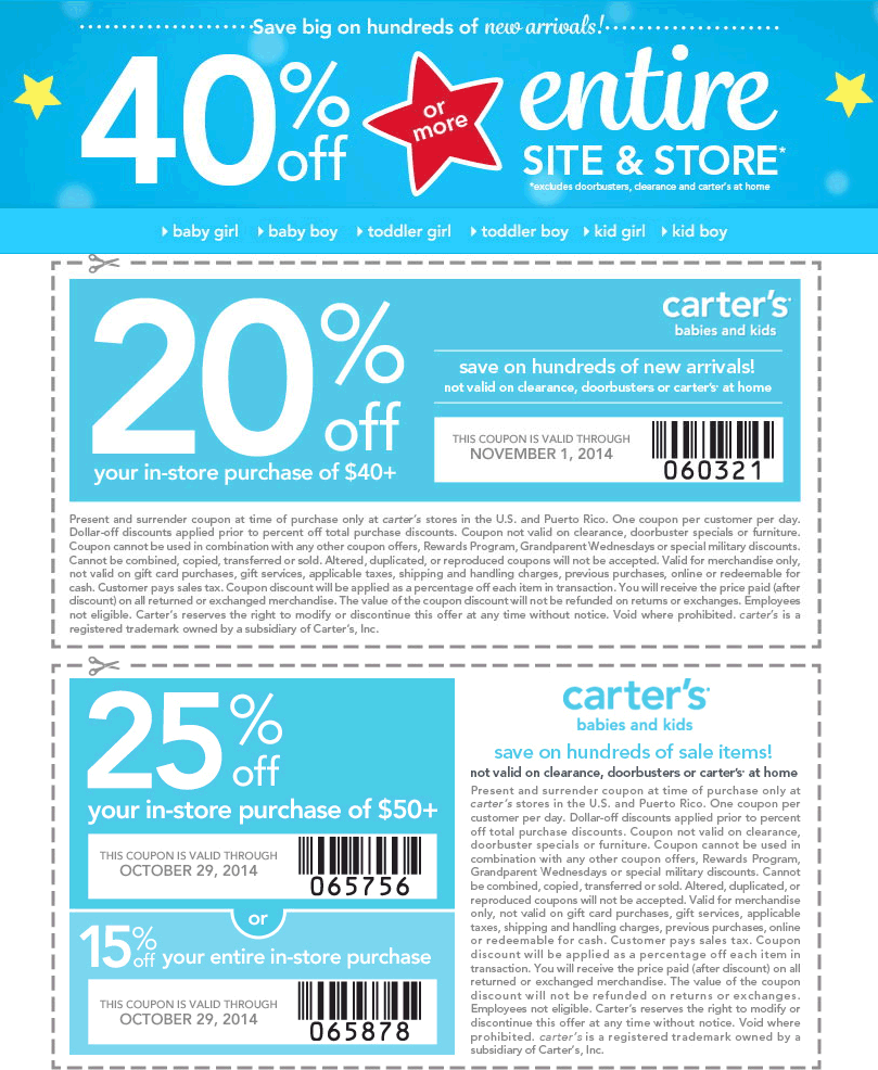 Pinned October 23rd 25 Off 50 More At Carters Or Online Via Promo Code Save25 Coupon Via The Coupons App Smart Shopping App Coupon Apps