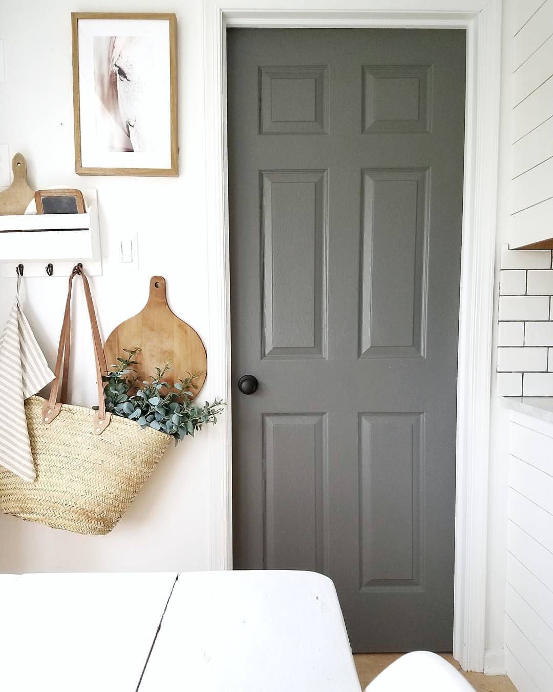 grey painting interior doors for bedroom | Pin by Peggy Kass on Back entryway in 2019 | White bedroom ...