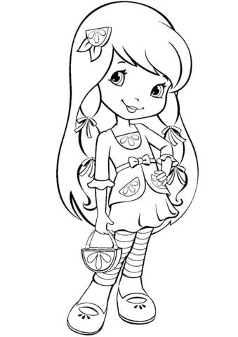 Lemon Meringue Coloring Page Strawberry Shortcake Coloring Pages Coloring Pages Cartoon Coloring Pages