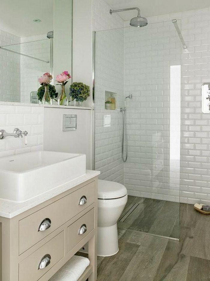 1001 ideas de decoracion para ba os peque os con ducha ba os pinterest Cuartos pequenos con bano