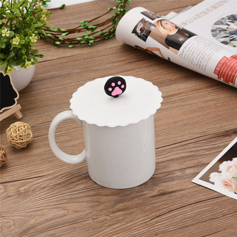 12 Colors Cute Creative Magical Silicone Leakproof Airtight Sealed Coffee Cup Suction Seal Lid Cap Cover Food Grade Silicone Fruit Design Silicone Cups