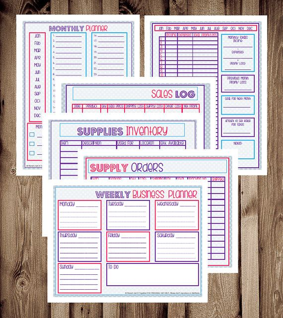 Home Business PlannerPrintable Etsy Planner by MamasGotItTogether
