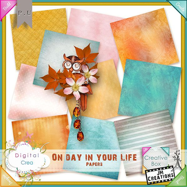 One day in your life Papers by JM Creations
