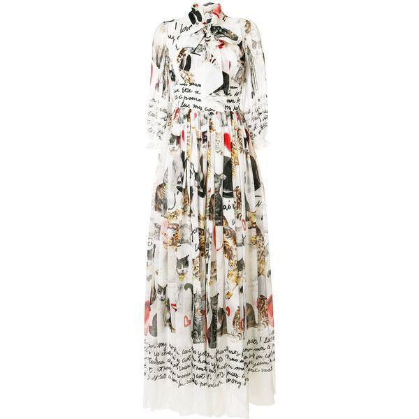 b4d4fbeddda Dolce   Gabbana cat print dress (63.401.310 IDR) ❤ liked on Polyvore  featuring dresses