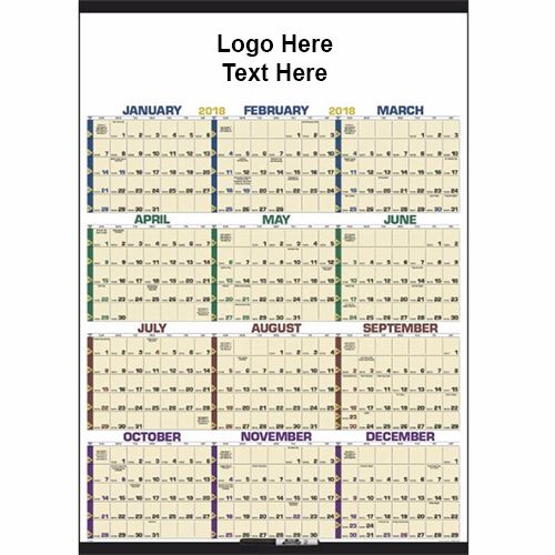 Custom Imprinted 2018 Time Management Span-a-Year Laminated
