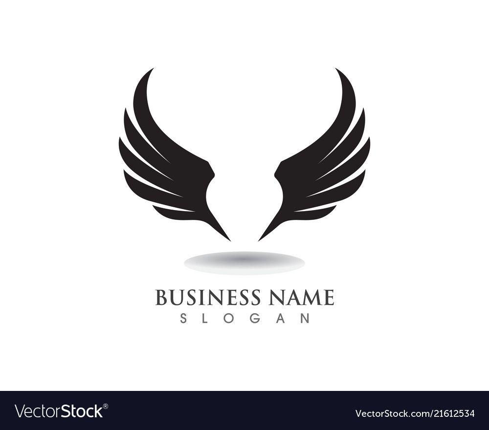 eagle wing falcon logo and symbols template vector image on vectorstock falcon logo eagle wings logos eagle wing falcon logo and symbols