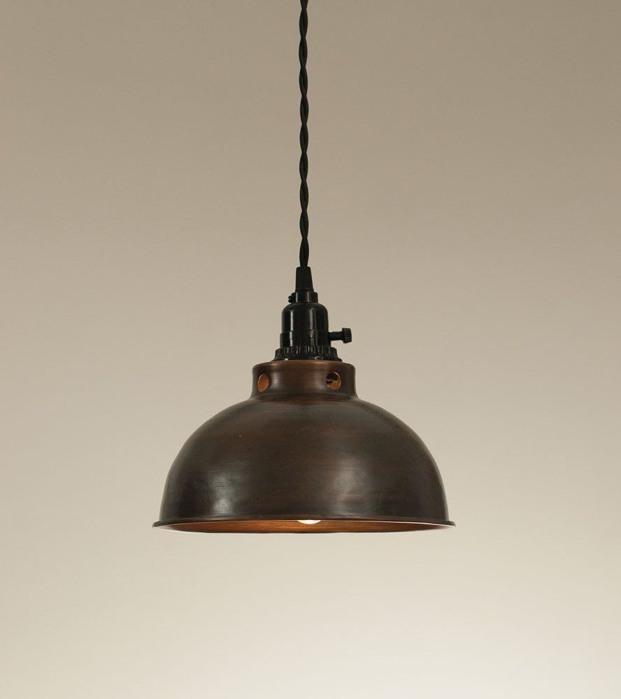 Aged copper dome pendant lamp pendant lighting kitchens and lights