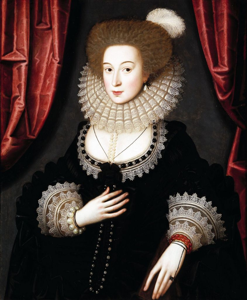 William Larkin - Portrait of Mary Radclyffe - between circa 1610 and 1613