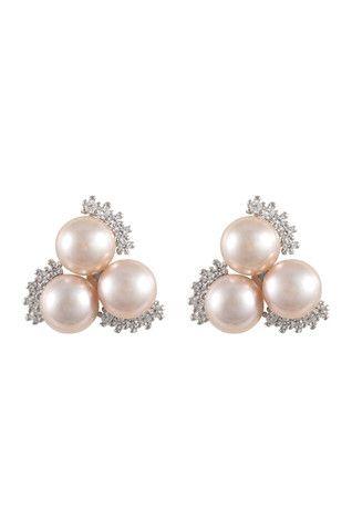 5-5.5mm Triple Freshwater Pearl Earrings