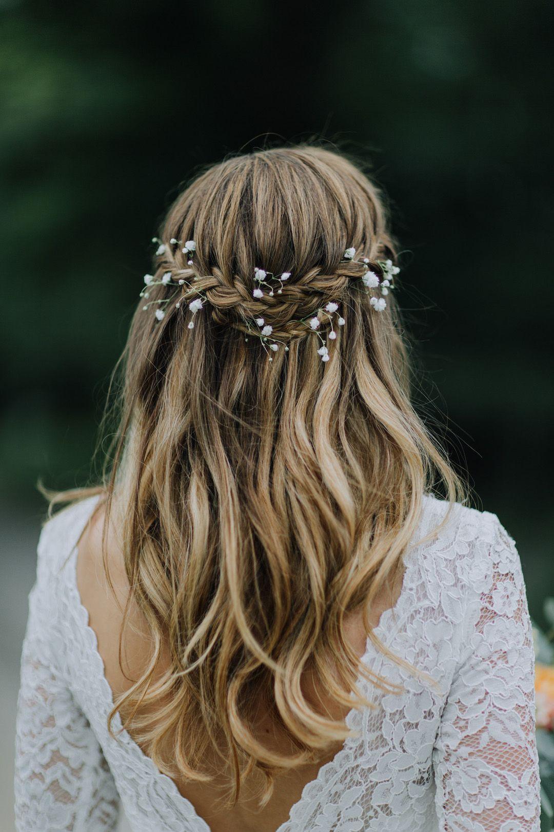 gorgeous half up half down wedding hairstyles day dream