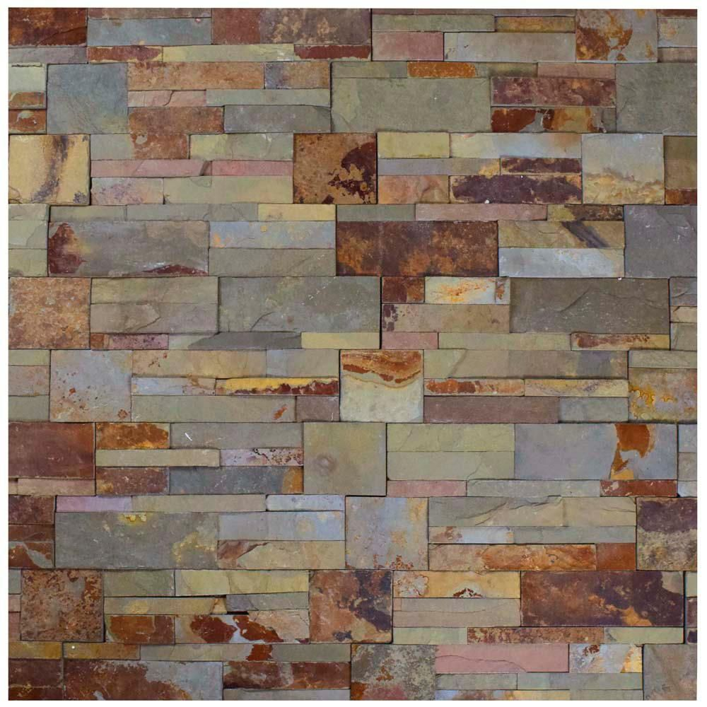 Merola Tile Ledger Panel Rusty Slate 7 In X 13 1 2 In Natural Stone Wall Tile 6 Cases 31 5 Sq Ft Pallet Lpnrus The Home Depot Natural Stone Wall Stone Tile Wall Stone Mosaic Tile