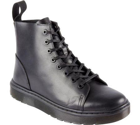 Dr. Martens Talib 8 Eye Raw Boot - Black Brando - FREE Shipping & Exchanges