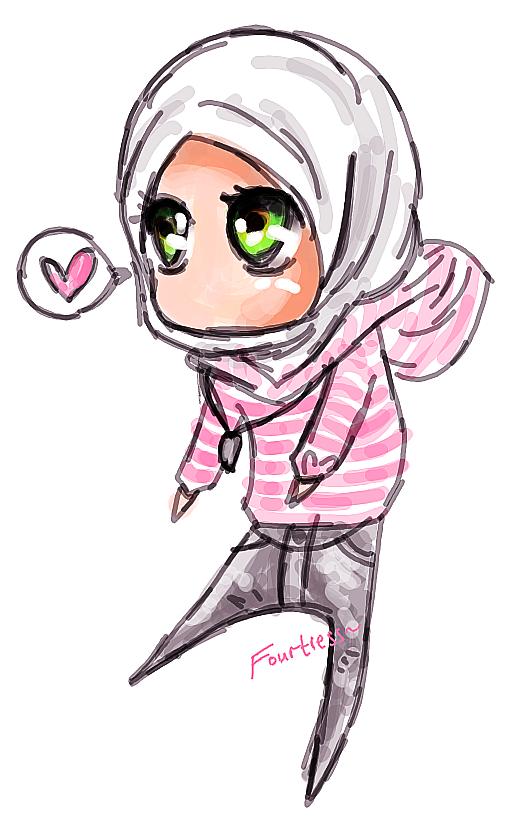 Hijabi Muslimah Chibi Drawing Chibi drawings, Islamic