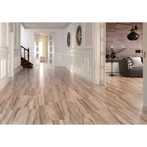 Industrial Flooring That Looks Like Wood: Bradford Natural Wood Plank Porcelain Tile