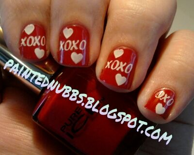 Painted Nubbs: Valentine's Day Look #1