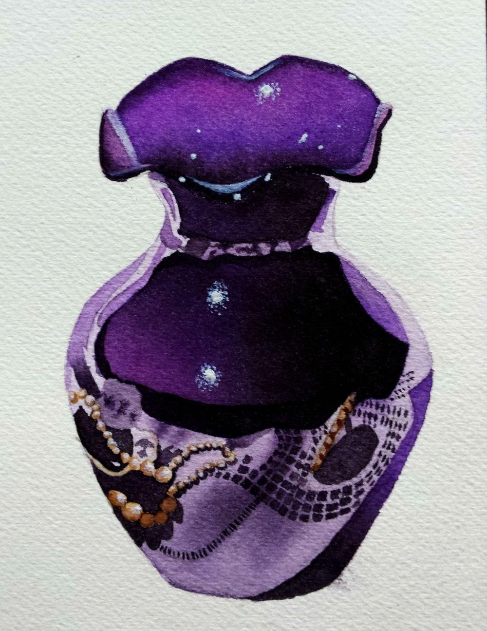 My Purple Vase - members watercolors - For the Love of Watercolor