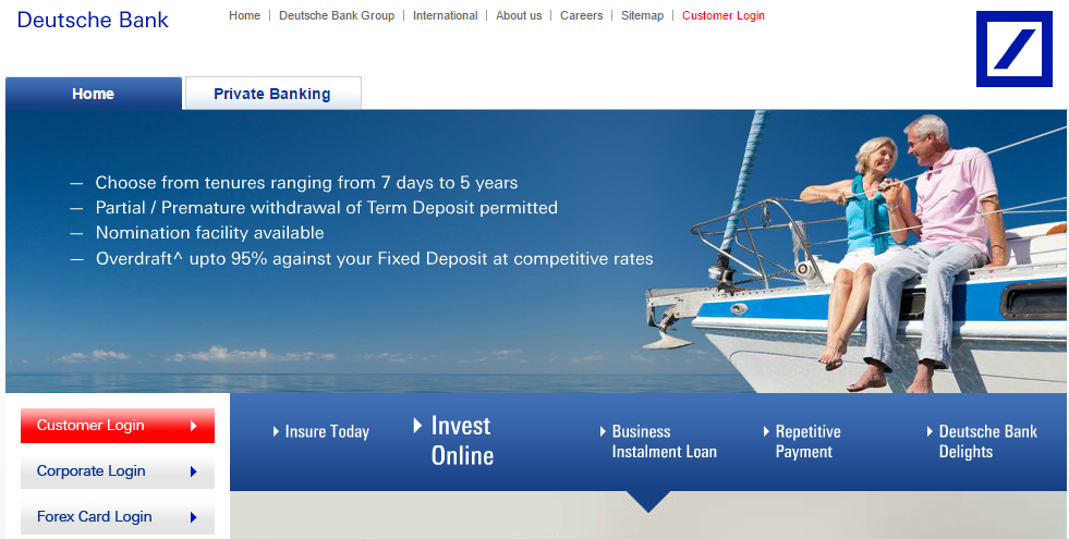 Deutsche Bank Fixed Deposit Interest Rate Plans Calculator Personal Loans Loan Interest Rates Loan