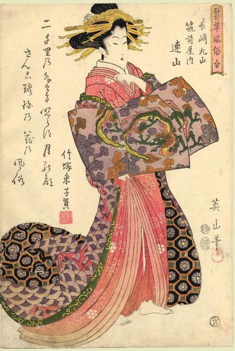 Kikugawa Eizan  菊川英山 Japão, 1787-1867