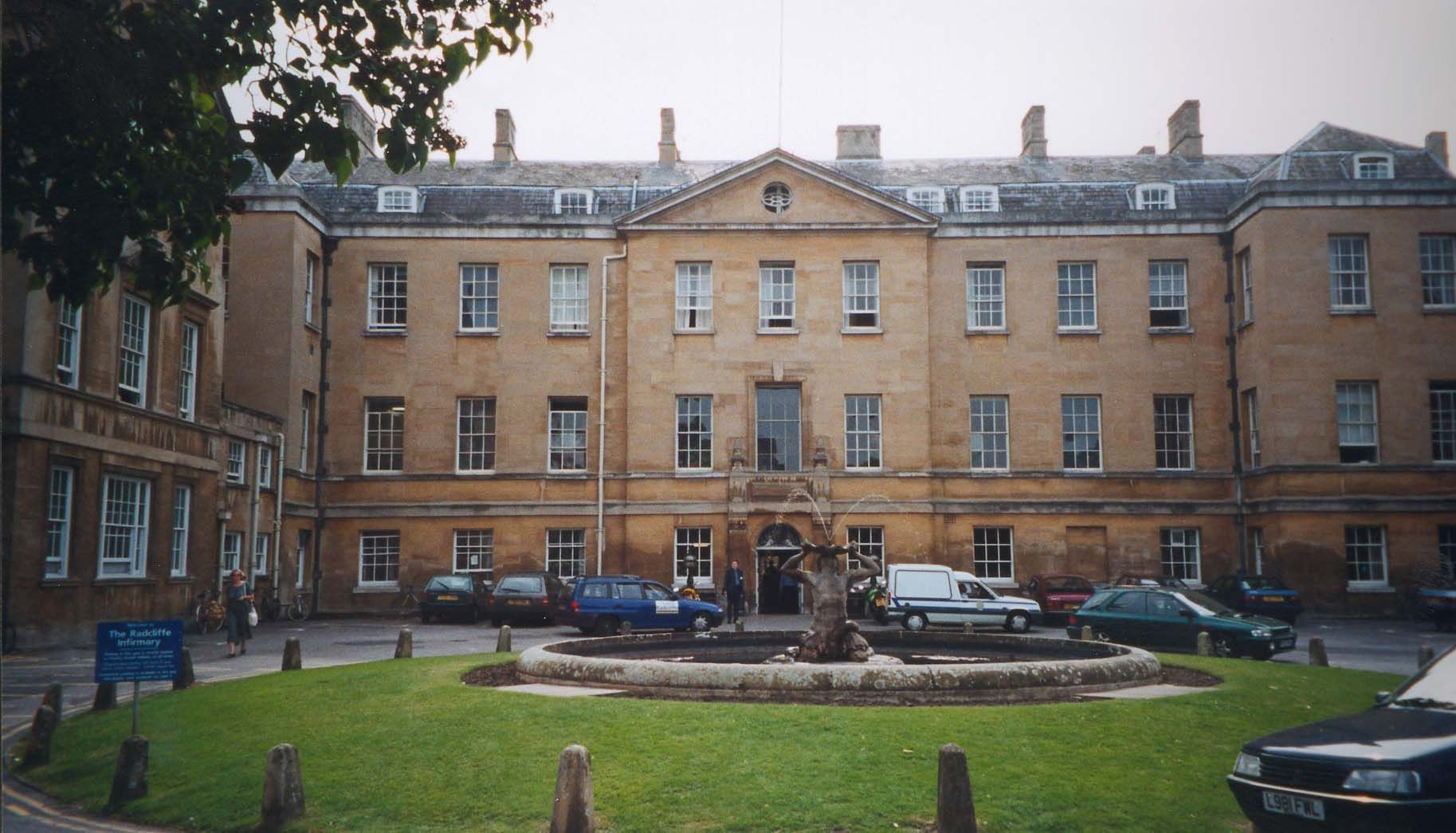 Radcliffe Infirmary. Oxford, England. With Guillermo Martínez in The Oxford Murders.
