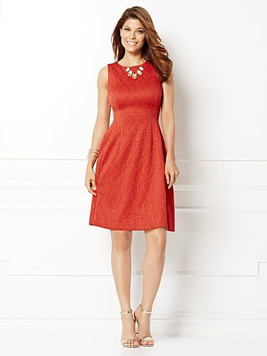 Shop Eva Mendes Collection - Maria Jacquard Dress. Find your perfect size online at the best price at New York & Company.