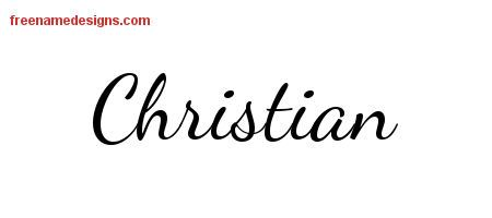 Calligraphic Stylish Name Tattoo Designs Christian Free Graphic