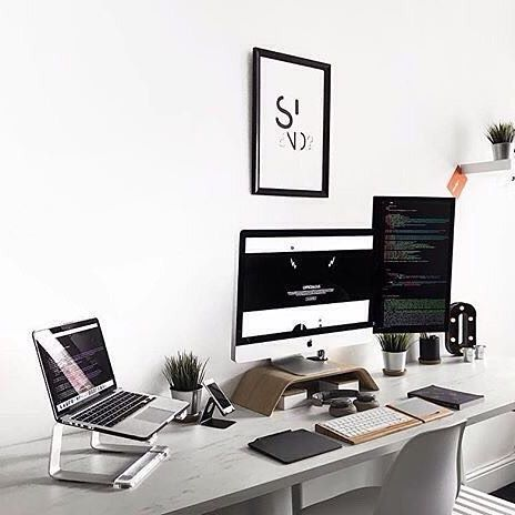 Desk ultrawide home office homeoffice productivity interiordesign design designer graphicdesign graphicdesigner developer programmer code