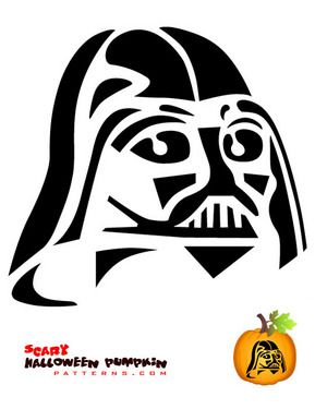 picture relating to Stormtrooper Stencil Printable referred to as Darkish Fader Pumpkin Templates