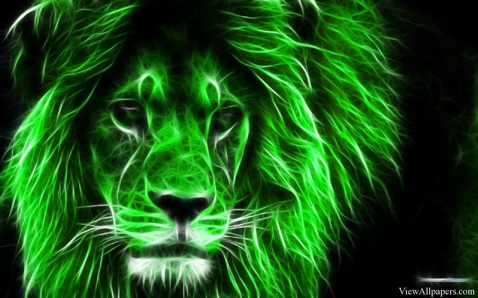 Green Lion Free Wallpaper Lion Wallpaper Lions Photos Blue Lion