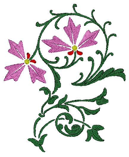 Pretty Floral Embroidery Design 144 Free Embroidery Designs