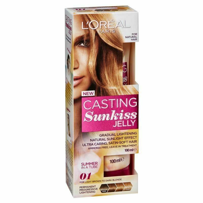 L Oreal Casting Sunkiss Gradual Lightening Hair Jelly 01 Dark To Light Blonde Loral Hair Jelly Light Blonde Dark Blonde