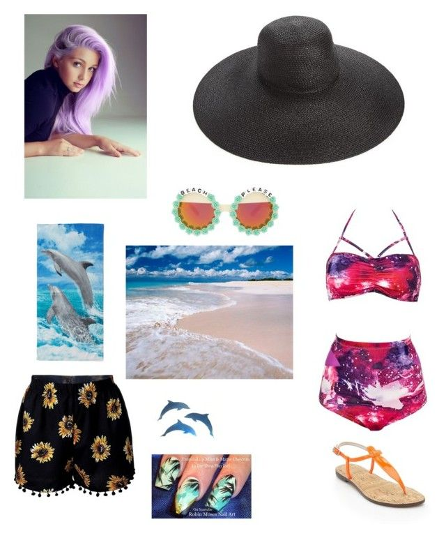 """""""beach day"""" by watermelonpatato on Polyvore featuring Sam Edelman, Eric Javits and Rad+Refined"""