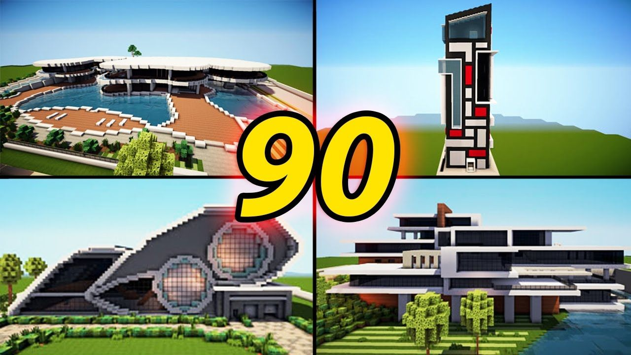 90 amazing minecraft modern house builds best houses 2016 download