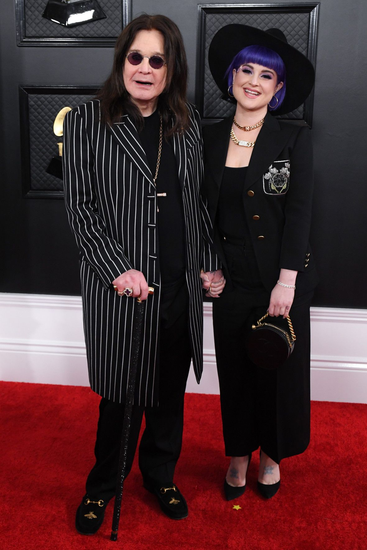 Ozzy Osbourne Looks Happy at 2020 Grammys After Parkinson