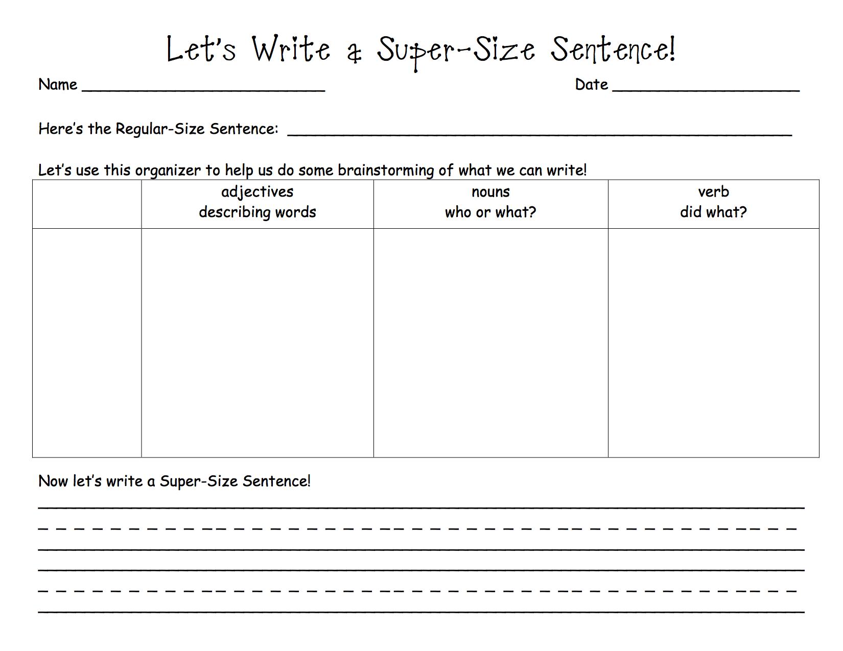 Expanding Our Sentences