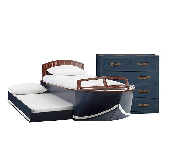 Speedboat Storage Twin Bed And Luxury Firm Mattress And