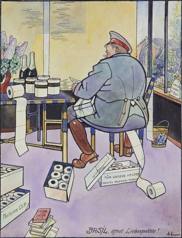 World War I cartoons up for auction